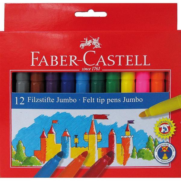 Carioca Jumbo 12 culori Faber-Castell 0