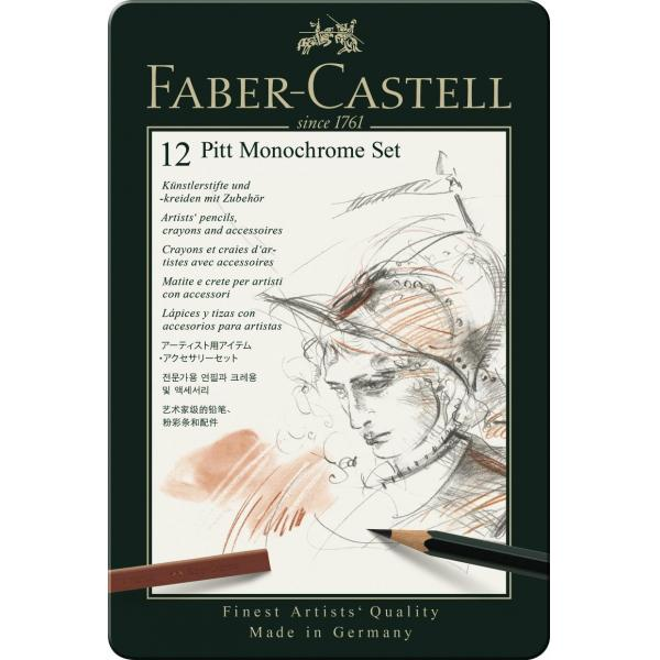 Set Pitt Monochrome 12 Buc Nou Faber-Castell 1