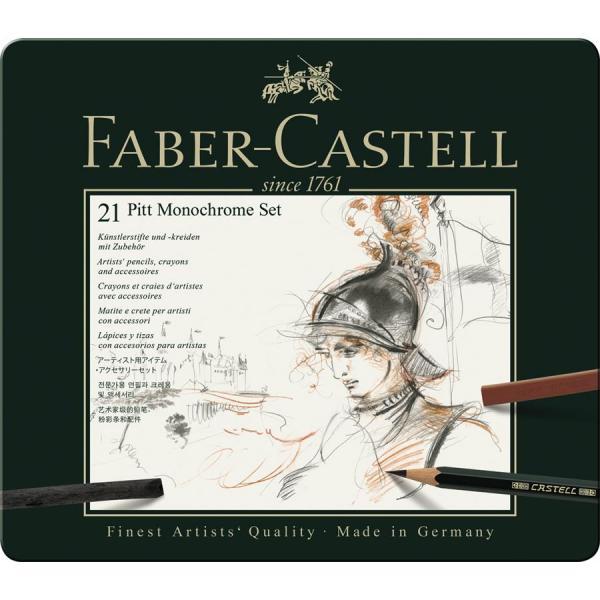 Set Pitt Monochrome 21 Buc Faber-Castell 1