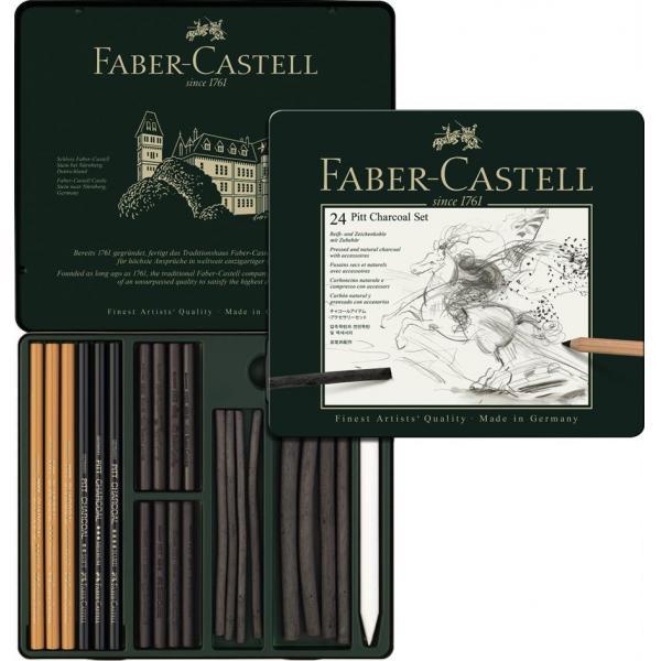 Set Pitt Monochrome Carbune 24 Buc Faber-Castell 0