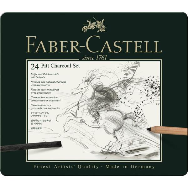 Set Pitt Monochrome Carbune 24 Buc Faber-Castell 1