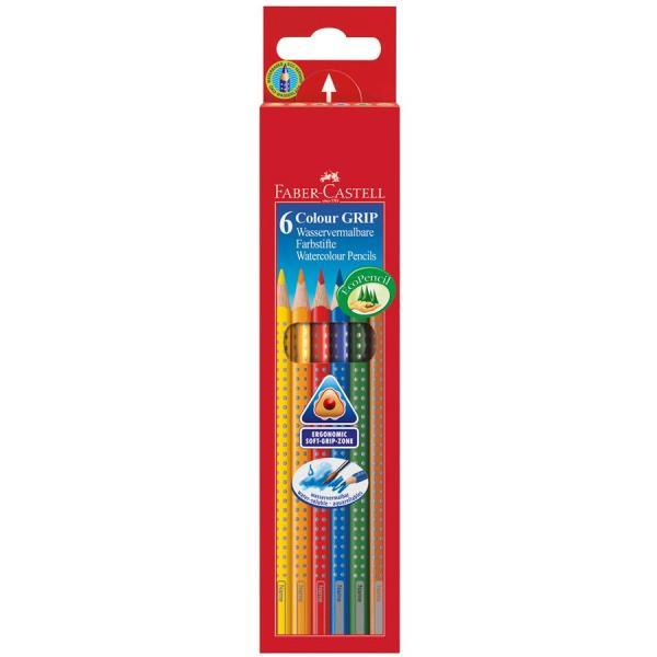 Creioane Colorate Grip 2001 6 culori Faber-Castell 0