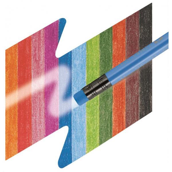 Creioane Colorate 12 Culori Cu Guma Eco Faber-Castell 2