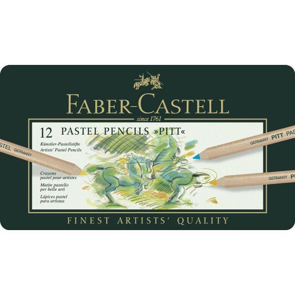 Creioane Pastel Pitt 12 Culori Faber-Castell 1