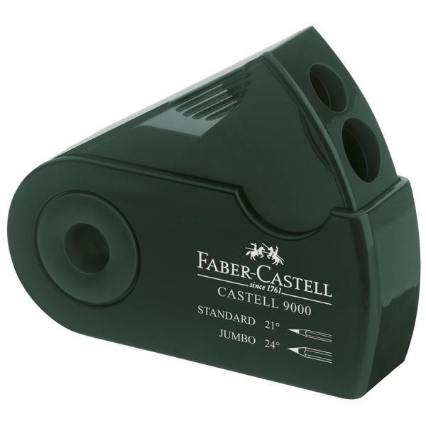 Ascutitoare Plastic Dubla Sleeve Verde Faber-Castell 1