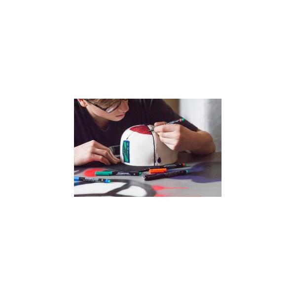 Set 8 culori Marker Permanent M Multimark Faber-Castell 6