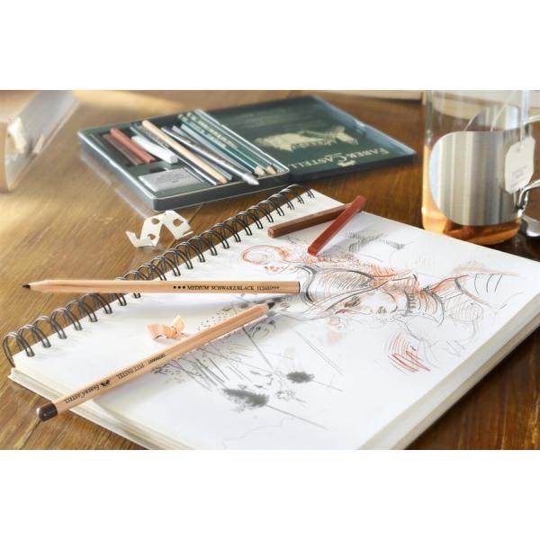 Creion Ulei Rosu Sangvin Pitt Monochrome Faber-Castell 2