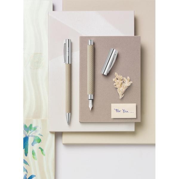 Stilou Ambition Opart White Sand Faber-Castell 4