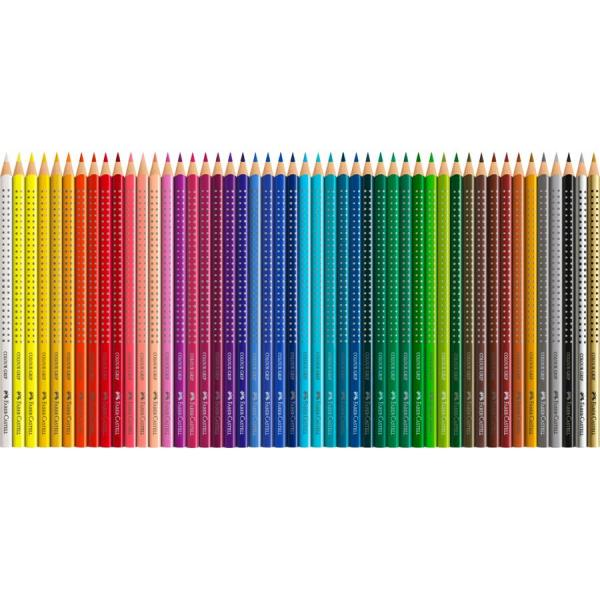 Creioane Colorate Grip 2001 48 Culori Cutie Metal Faber-Castell 1