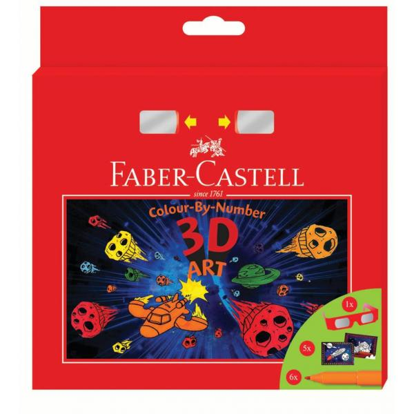Set Cadou 6 Carioci Connector 3D Art Faber-Castell 0