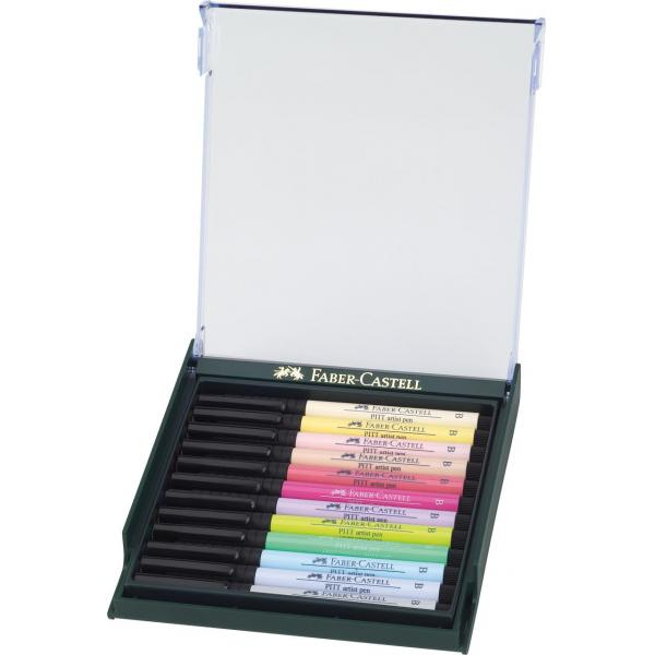 Cutie 12 Culori Pitt Artist Pen Nuante Pastel Faber-Castell 1