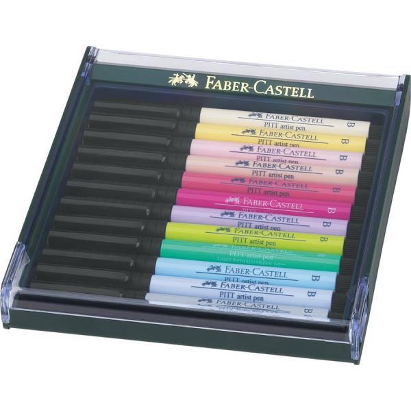 Cutie 12 Culori Pitt Artist Pen Nuante Pastel Faber-Castell 0