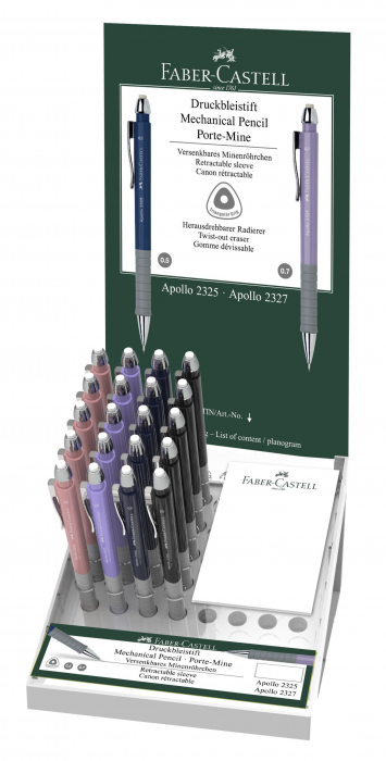 DISPLAY 20 BUC CREION MECANIC 0.5MM APOLLO FABER-CASTELL 0