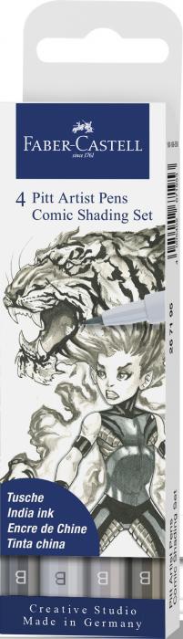 Pitt Artist Pen Set 4 Comic Gri Faber-Castell 0
