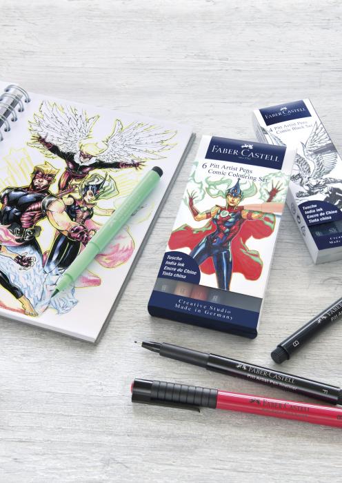 Pitt Artist Pen Set 6 Buc Comic Faber-Castell 1