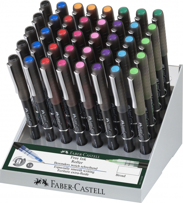 DISPLAY 40 BUC ROLLER FREE INK 1.5MM FABER-CASTELL 0