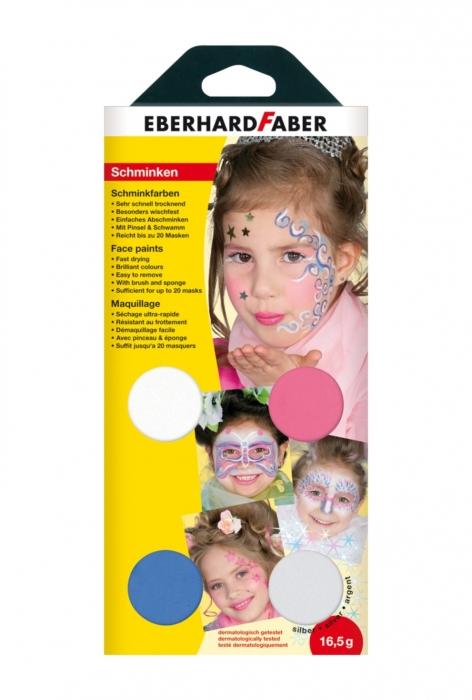 SET PICTURA PENTRU FATA 4 CULORI + PENSULA GIRLY EberhardFaber 1