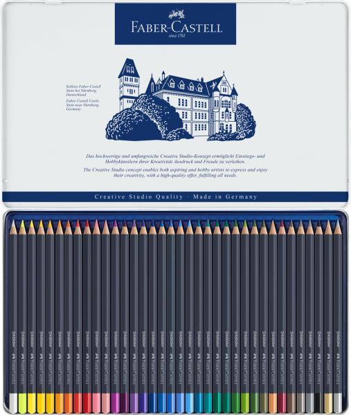 Creioane Colorate 36 Culori Goldfaber Cutie Metal Faber-Castell 3