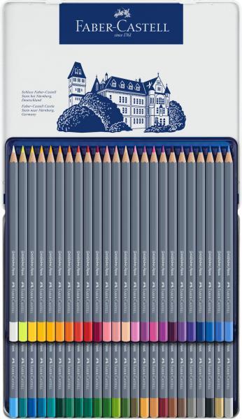 Creioane Colorate 36 Culori Goldfaber Cutie Metal Faber-Castell 2