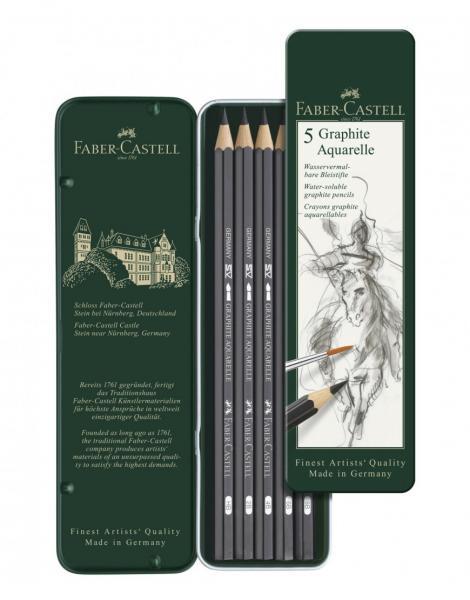 SET 5 BUC CREION GRAFIT AQUARELLE Faber-Castell 0