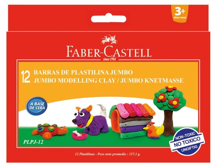 Plastilina 12 Culori 160G Faber-Castell 0