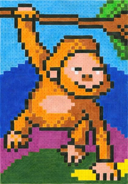 Set 12 Creioane Colorate Grip si Carte Colorat Pixel Faber-Castell 1
