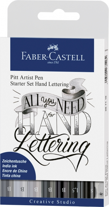 Pitt Artist Pen Set Caligrafic 8 Buc Faber-Castell 0