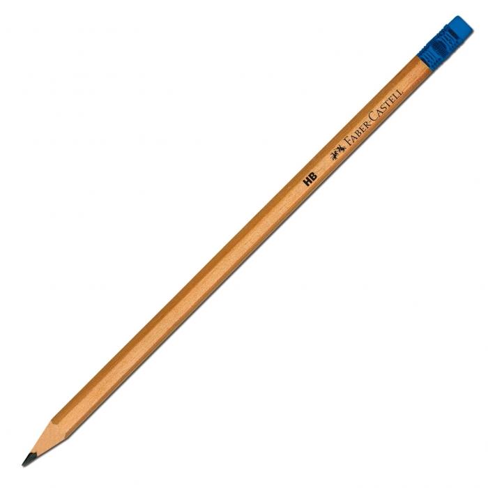 Creion Grafit HB cu Guma Natur Faber-Castell 0