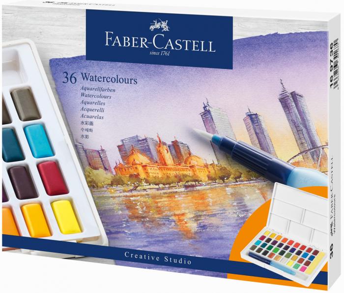 Acuarele 36 Culori Creative Studio Faber-Castell 1