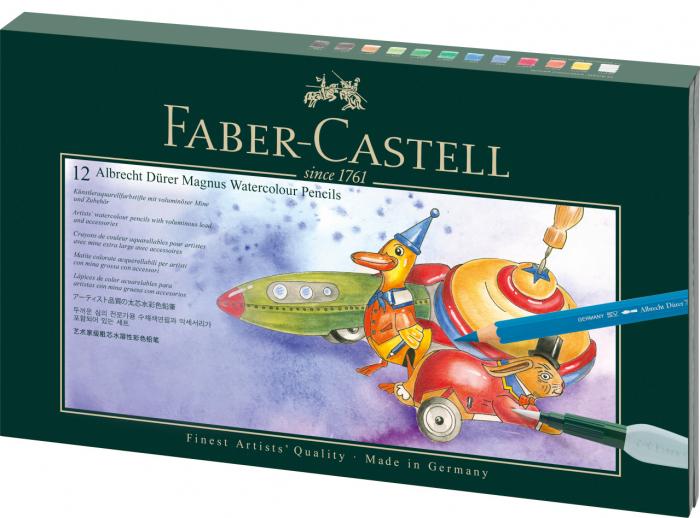 Cutie Cadou 12 Creioane A.Durer Magnus + Creion Grafit+ Accesorii Faber-Castell 0