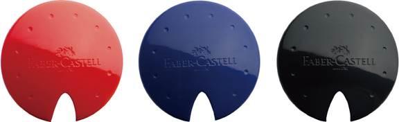 ASCUTITOARE PLASTIC SIMPLA UFO ROSU-ALBASTRU-NEGRU FABER 0