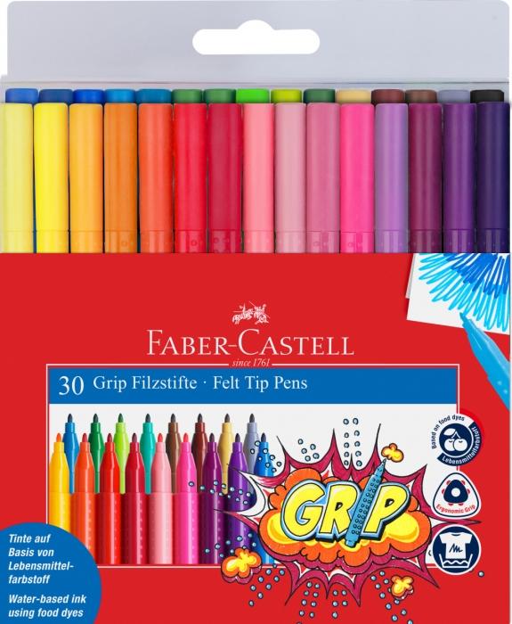 Carioca Grip 30 culori Faber-Castell 0