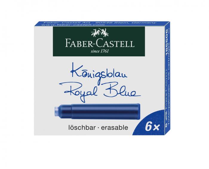 Cartuse Cerneala Mici Faber-Castell Albastru 6 buc/cutie 0