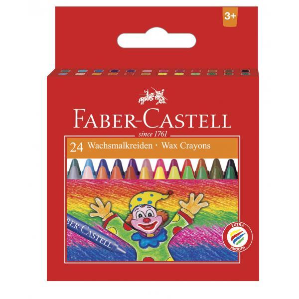 Creioane Cerate Clown 24 culori Faber-Castell 0