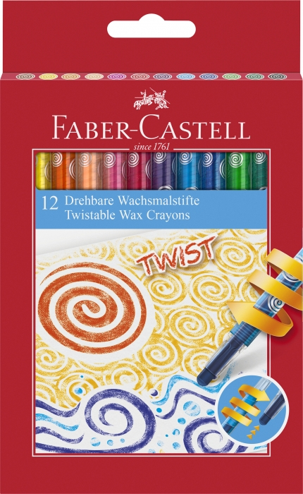Creioane Cerate Retractabile 12 Culori Faber-Castell 0