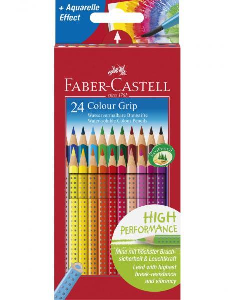 Creioane Colorate Grip 2001 24 culori Faber-Castell 0