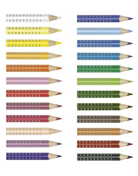 Creioane Colorate Grip 2001 24 culori Faber-Castell 1