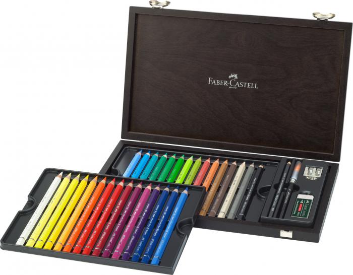 Creioane Colorate 30 Culori A.Durer Magnus Cutie Lemn Faber-Castell 0