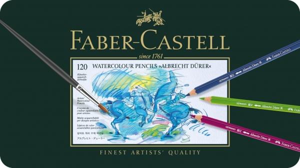 Creioane Colorate Acuarela A.Durer 120 culori, cutie metal Faber-Castell 1