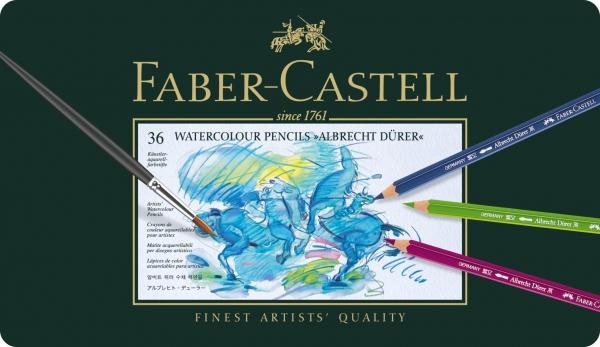 Creioane Colorate Acuarela A.Durer 36 culori, cutie metal Faber-Castell 0