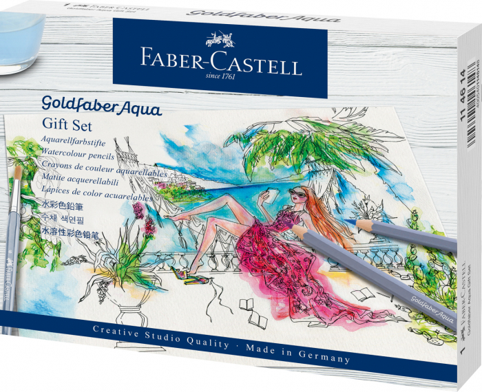 Set Cadou 12 Creioane Colorate GoldFaber Aqua+ Accesorii Faber-Castell 0