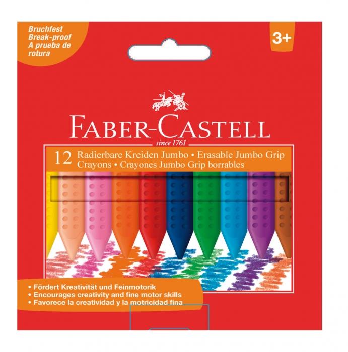 Creioane Colorate Plastic 12 culori Jumbo Faber-Castell 0