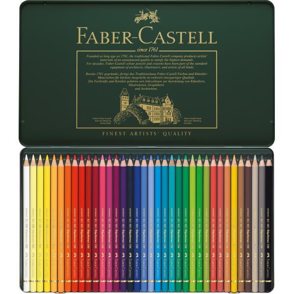 Creioane Colorate Polychromos 36 Culori Cutie Metal Faber-Castell 1