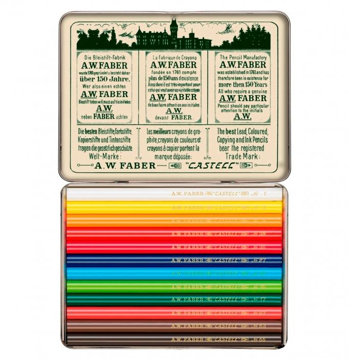 Creioane Colorate Scurte 12 Culori, Aniversare 111 Ani Polychromos Faber-Castell 0