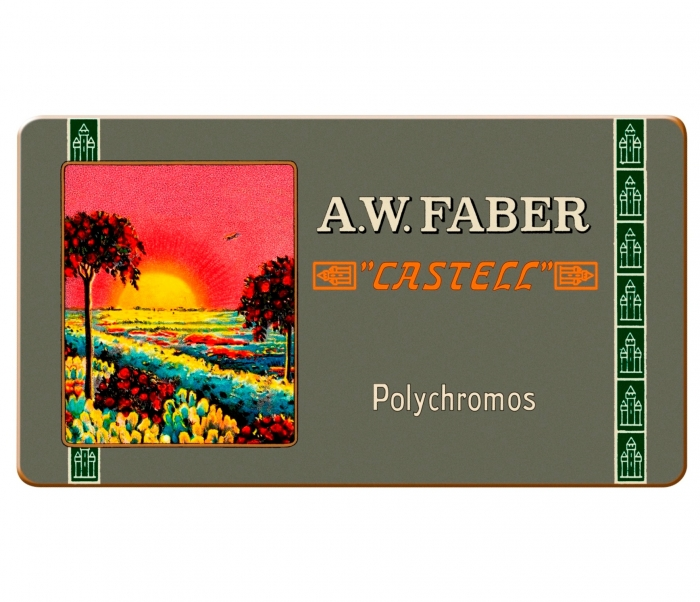 creioane colorate Polychromos set12 culori ,111 ani, fabercastell.ro