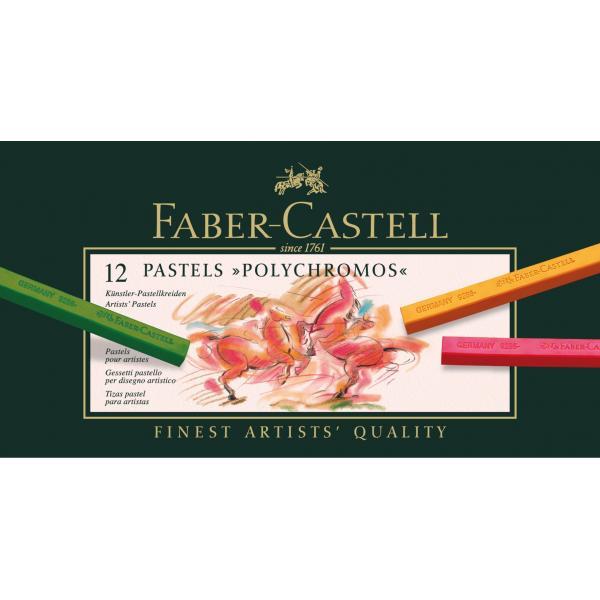 Creioane Pastel 12 Culori Polychromos Faber-Castell 1