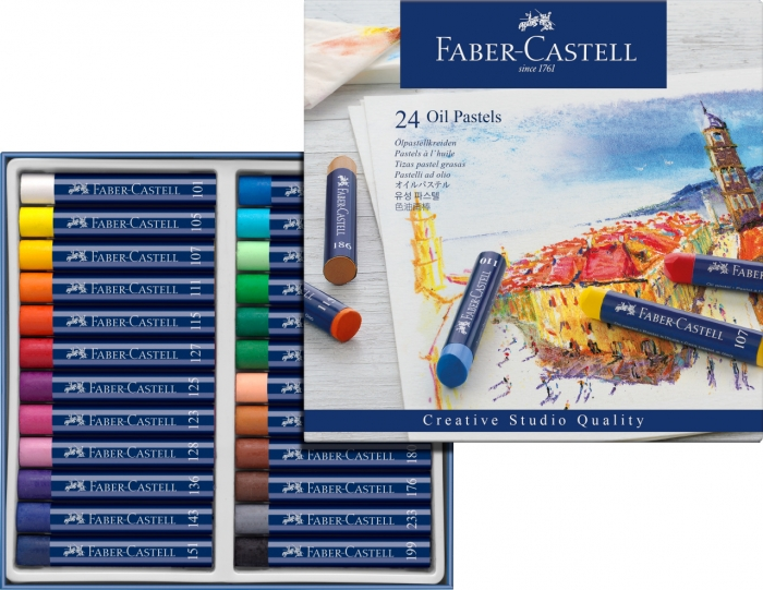 Creioane Ulei Pastel 24 culori Faber-Castell 1