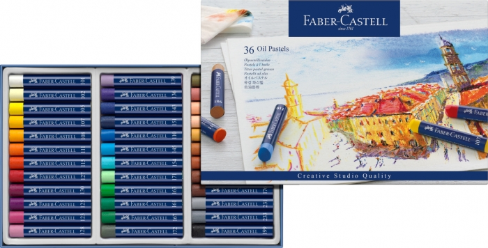 Creioane Ulei Pastel 36 culori Faber-Castell 1