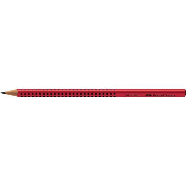 Creion Grafit B Grip 2001 Rosu Faber-Castell 1