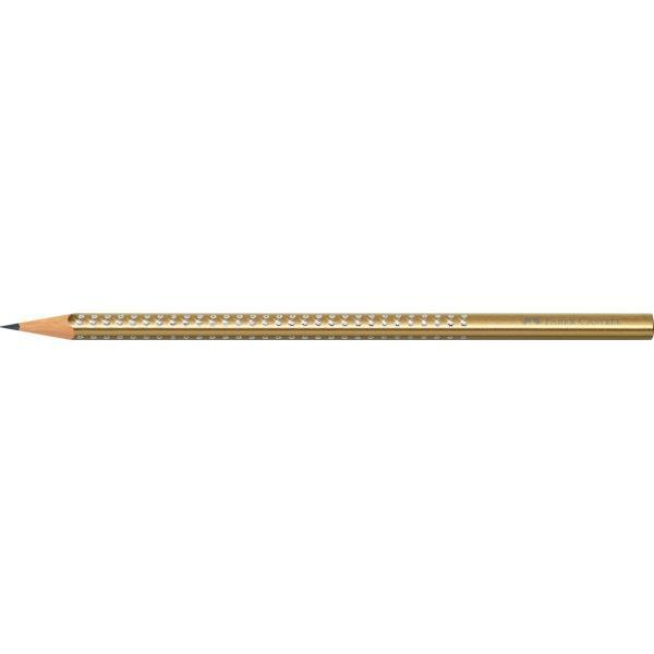 Creion Grafit B Sparkle Auriu 2019 Faber-Castell 1
